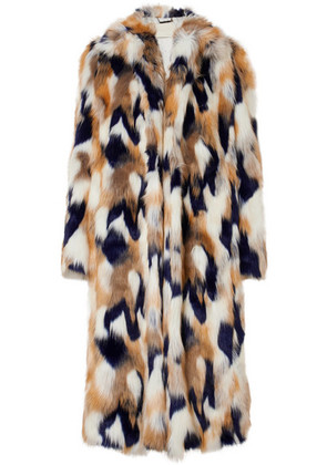 Givenchy - Faux Fur Coat - Ivory