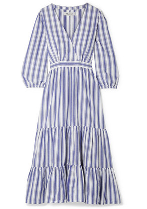 Madewell - Wrap-effect Striped Cotton Dress - Blue