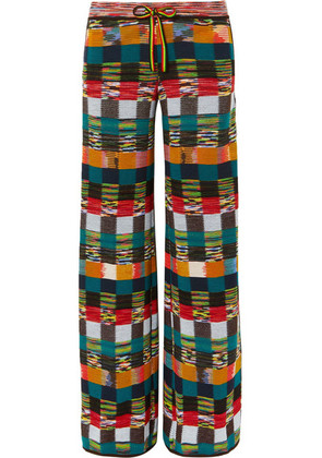 Missoni - Checked Wool Wide-leg Pants - Red