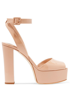 Giuseppe Zanotti - Betty Patent-leather Platform Sandals - Neutral