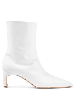 Rosetta Getty - Patent-leather Ankle Boots - White