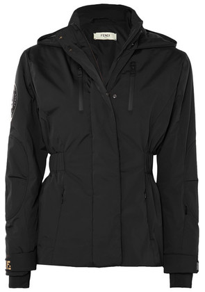 Fendi - Hooded Quilted Shell Jacket - Black