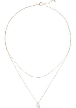 Mizuki - 14-karat Gold, Freshwater Pearl And Diamond Necklace - one size