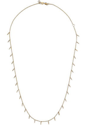 Sydney Evan - Fringe 14-karat Gold Diamond Necklace - one size