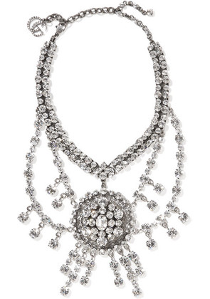Gucci - Silver-tone Crystal Necklace - one size