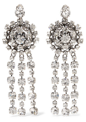 Gucci - Silver-plated Crystal Earrings - one size