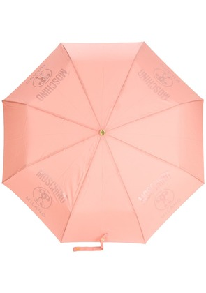 Moschino logo printed umbrella - Pink