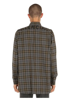 LOGO PRINTED FLANNEL CHECK SHIRT
