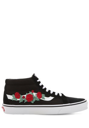 SK8-MID EMBROIDERED SNEAKERS