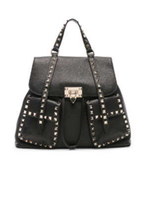 Valentino Rockstud Backpack in Black