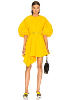 Marques ' Almeida Round Sleeve Dress in Yellow