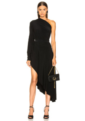 Norma Kamali All In One Hi Low Dress in Black