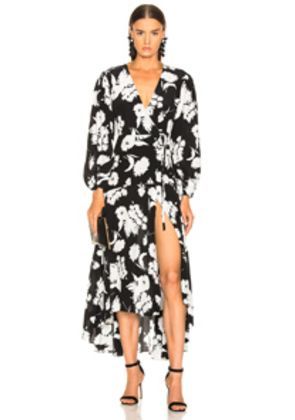Ganni Kochhar Dress in Black,Floral,White
