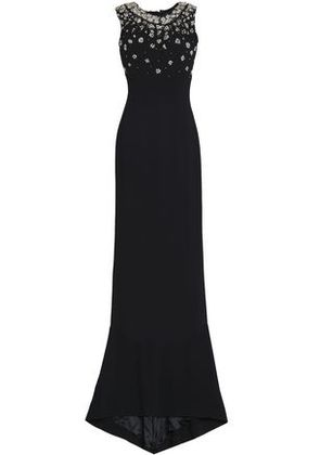 Dolce & Gabbana Woman Embellished Crepe Gown Black Size 38