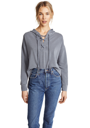 SUNDRY Lace Up Hoodie