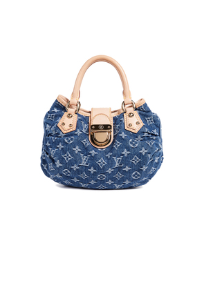 What Goes Around Comes Around Louis Vuitton Blue Denim Pleaty Handbag