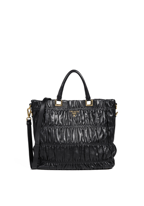 What Goes Around Comes Around Prada Black Nappa Gaufre Tote
