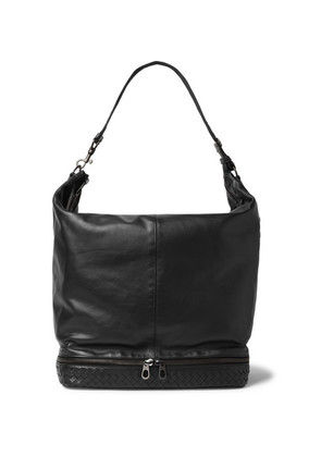 Intrecciato-trimmed Leather Holdall