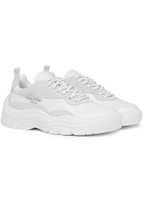 Valentino Garavani Leather And Suede Sneakers
