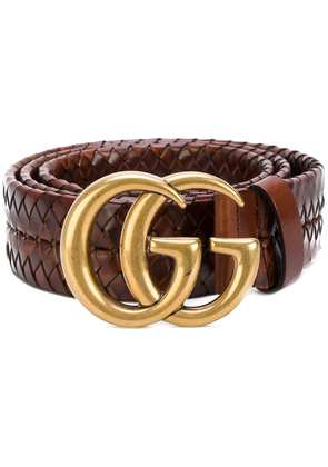 Gucci Interlocking GG buckle belt - Brown