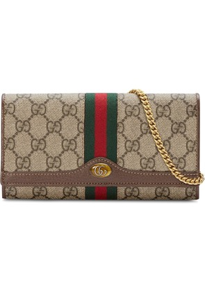 Gucci Ophidia GG chain wallet - Neutrals