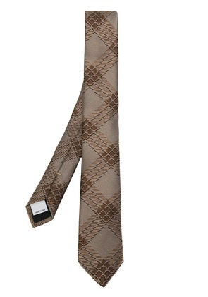 Valentino embroidered tie - Brown