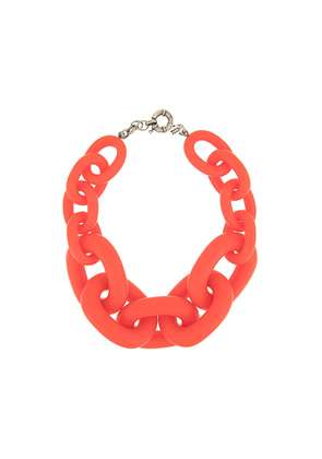 Vanda Jacintho oversized cable chain necklace - Red