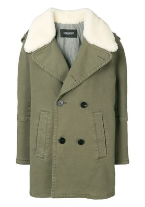 Neil Barrett double-breasted fitted coat - Green