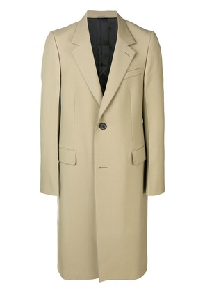Lanvin tailored single breasted coat - Neutrals