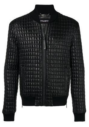 Dolce & Gabbana quilted zipped jacket - Black