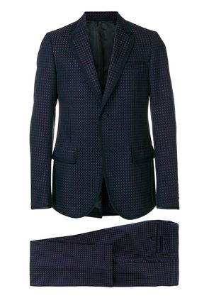 Gucci micro print two piece suit - Blue