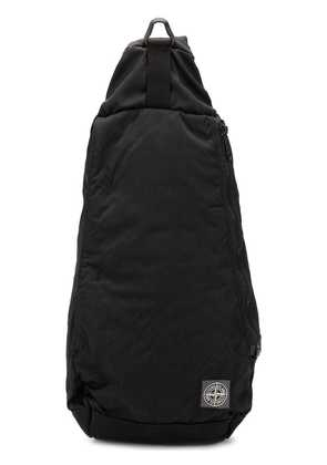 Stone Island logo patch backpack - Black