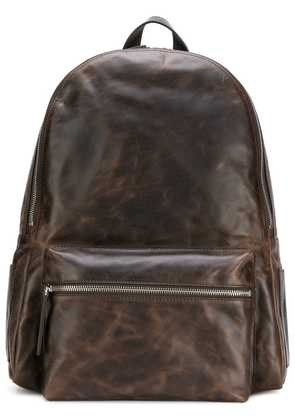Orciani side logo backpack - Brown