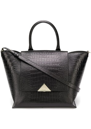 Emporio Armani crocodile embossed tote - Black