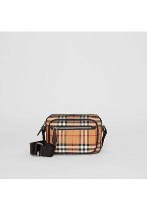 Burberry Vintage Check and Leather Crossbody Bag, Yellow