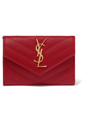Saint Laurent - Quilted Textured-leather Wallet - one size
