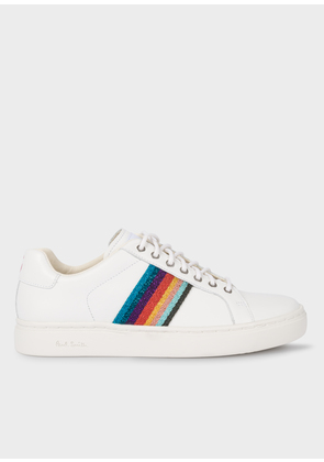 Women's White 'Artist Stripe' Leather 'Lapin' Trainers