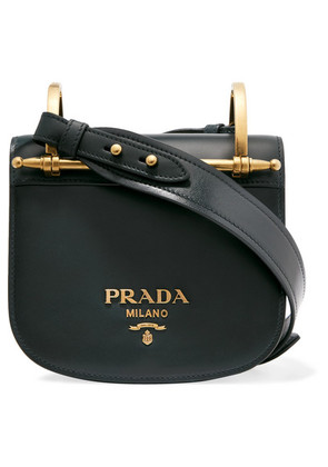 Prada - Pionnière Leather Shoulder Bag - Emerald