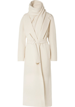 The Row - Tooman Cashmere And Wool-blend Coat And Scarf - Ivory