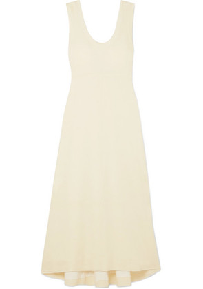 Proenza Schouler - Tie-detailed Stretch-jersey Midi Dress - Off-white