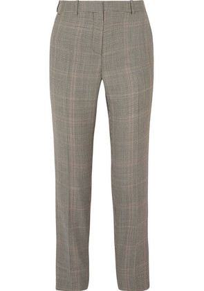 Givenchy - Houndstooth Wool-blend Straight-leg Pants - Gray