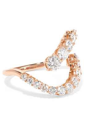 Melissa Kaye - Aria Skye 18-karat Rose Gold Diamond Ring - 6