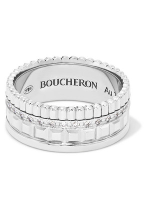 Boucheron - Quatre Radiant Edition Small 18-karat White Gold Diamond Ring - 52