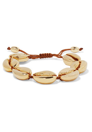 Tohum - Large Puka Gold-plated Bracelet - one size