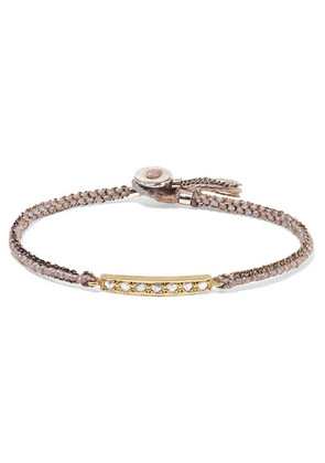 Brooke Gregson - 14-karat Gold, Sterling Silver And Diamond Bracelet - one size