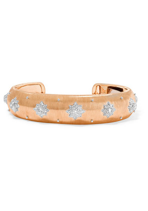 Buccellati - Macri 18-karat Rose And White Gold Diamond Cuff - Rose gold