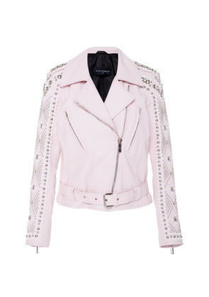 Nour Hammour Fadeout Embellished Leather Jacket