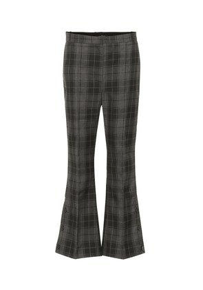 Checked cropped flared pants