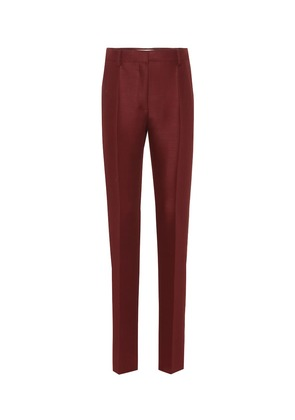 Wool and mohair straight pants