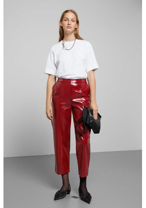 Kylie Patent Trousers - Red